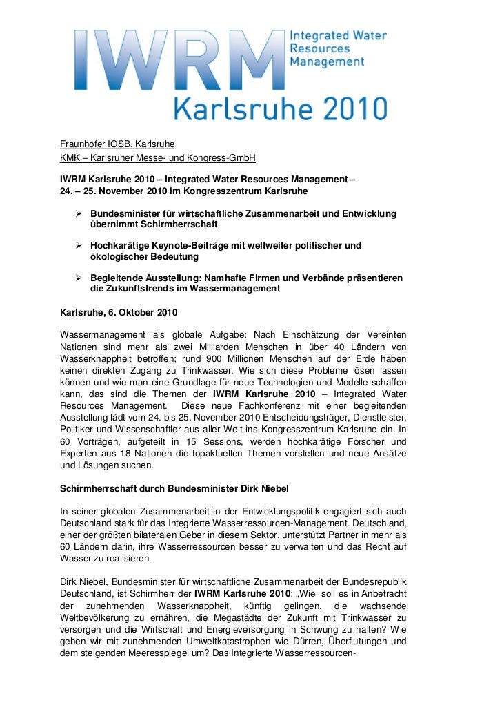 Fraunhofer IOSB, KarlsruheKMK – Karlsruher Messe- und Kongress-GmbHIWRM Karlsruhe 2010 – Integrated Water Resources Manage...