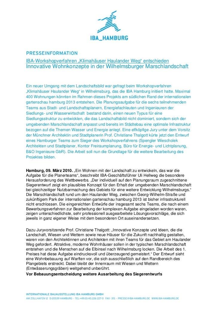 """IBA-Workshopverfahren """"Klimahäuser Haulander Weg"""" entschiedenInnovative Wohnkonzepte in der Wilhelmsburger Marschlandschaf..."""