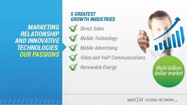 5 GREATEST GROWTH INDUSTRIES MARKETING RELATIONSHIP AND INNOVATIVE TECHNOLOGIES: OUR PASSIONS GLOBAL NETWORK PLC Direct Sa...