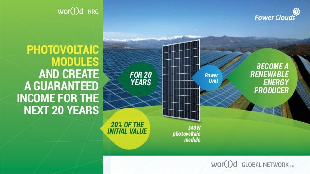 Power Unit 240W photovoltaic module PHOTOVOLTAIC MODULES AND CREATE A GUARANTEED INCOME FOR THE NEXT 20 YEARS BECOME A REN...