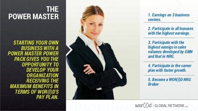 THE POWER MASTER STARTING YOUR OWN BUSINESS WITH A POWER MASTER POWER PACK GIVES YOU THE OPPORTUNITY TO DEVELOP YOUR ORGAN...