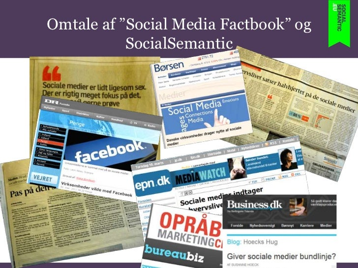 """Omtale af """"Social Media Factbook"""" og SocialSemantic <br />"""