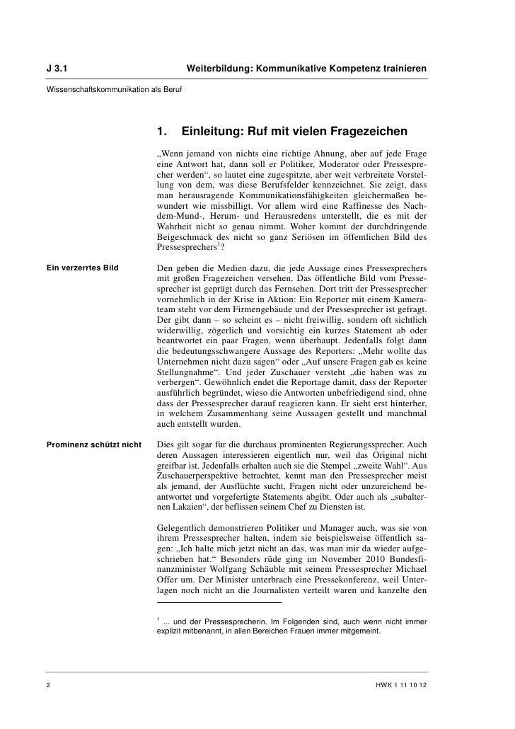 Franz Miller: Pressesprecher als Beruf Slide 2