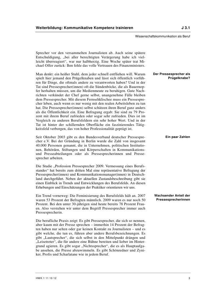 Franz Miller: Pressesprecher als Beruf Slide 3
