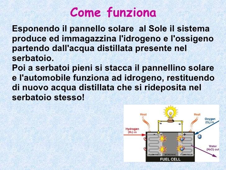 Pannello Solare Ibrido Ad Idrogeno : Presentazione