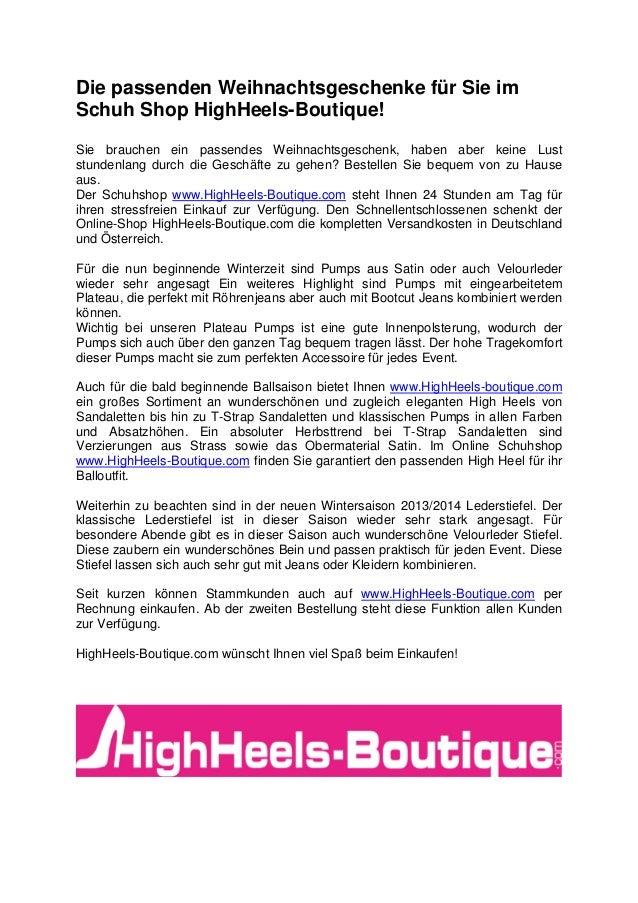 Weihnachtsgeschenke Auf Rechnung.Die Passenden Weihnachtsgeschenke Für Sie Im Schuh Shop Highheels Bou