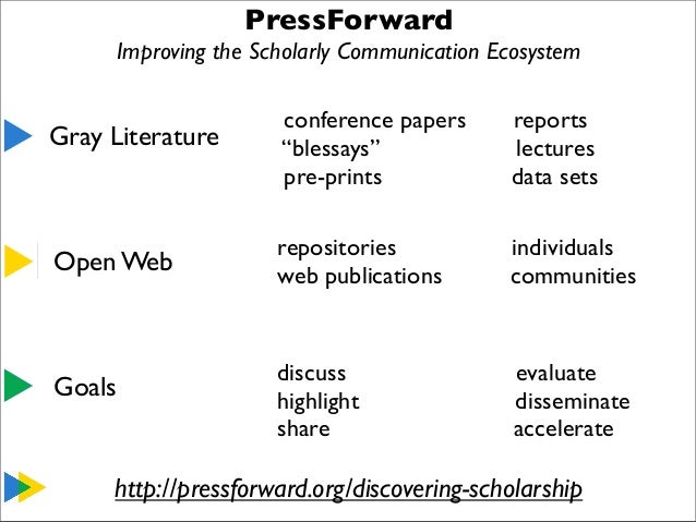 Pressforward Presentation at the Western Humanities Alliance Annual Meeting, November 2013 Slide 2