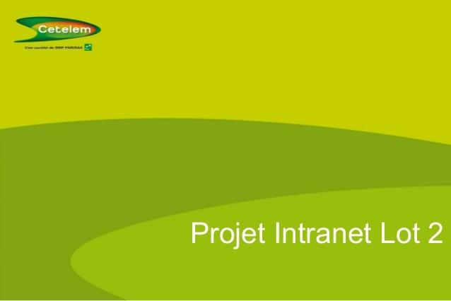 Projet Intranet Lot 2