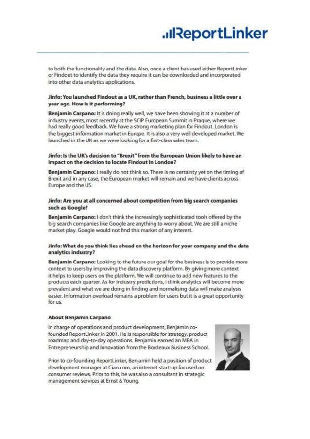 ReportLinker Press kit 2017