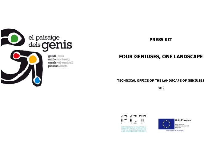 PRESS KITFOUR GENIUSES, ONE LANDSCAPETECHNICAL OFFICE OF THE LANDSCAPE OF GENIUSES                    2012