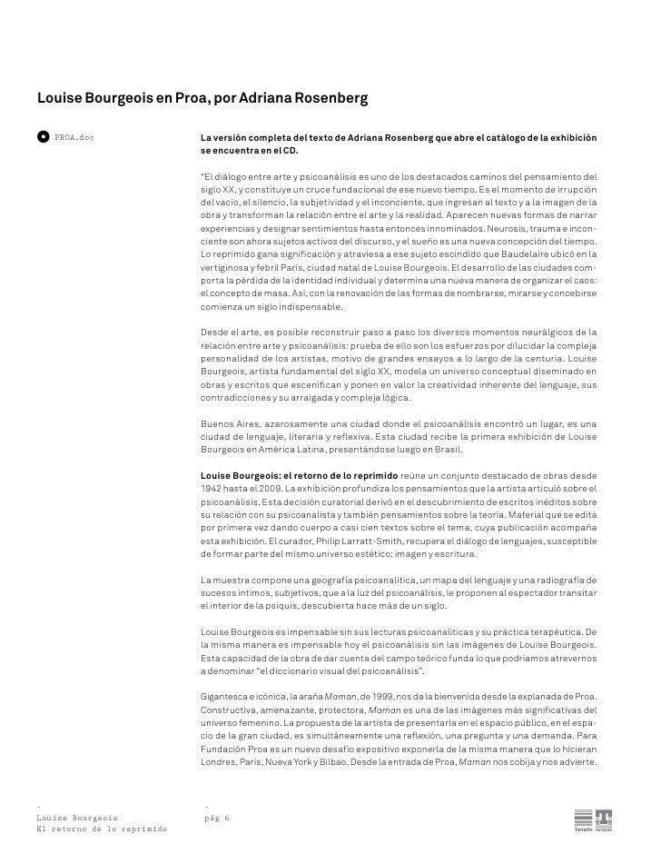 Press kit louisebourgeois