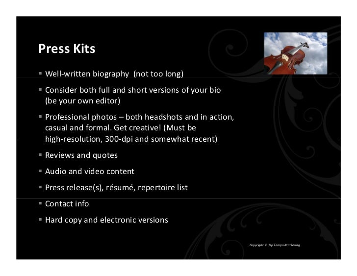 Press Kits & Websites - The Power & The Glory Slide 2