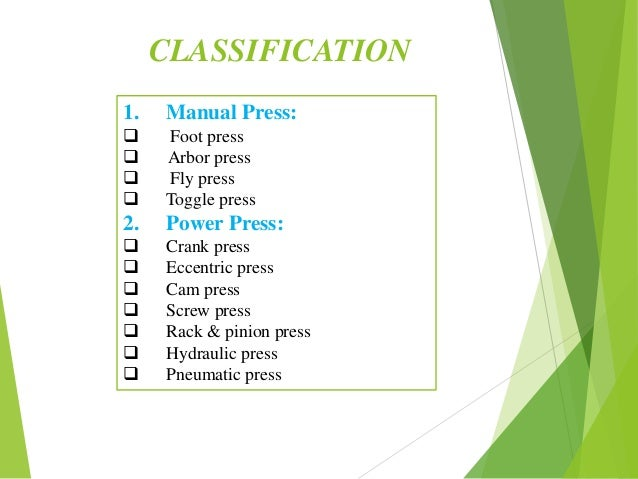 Press machines ppt