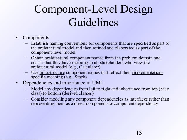 Pressman Ch 11 Component Level Design