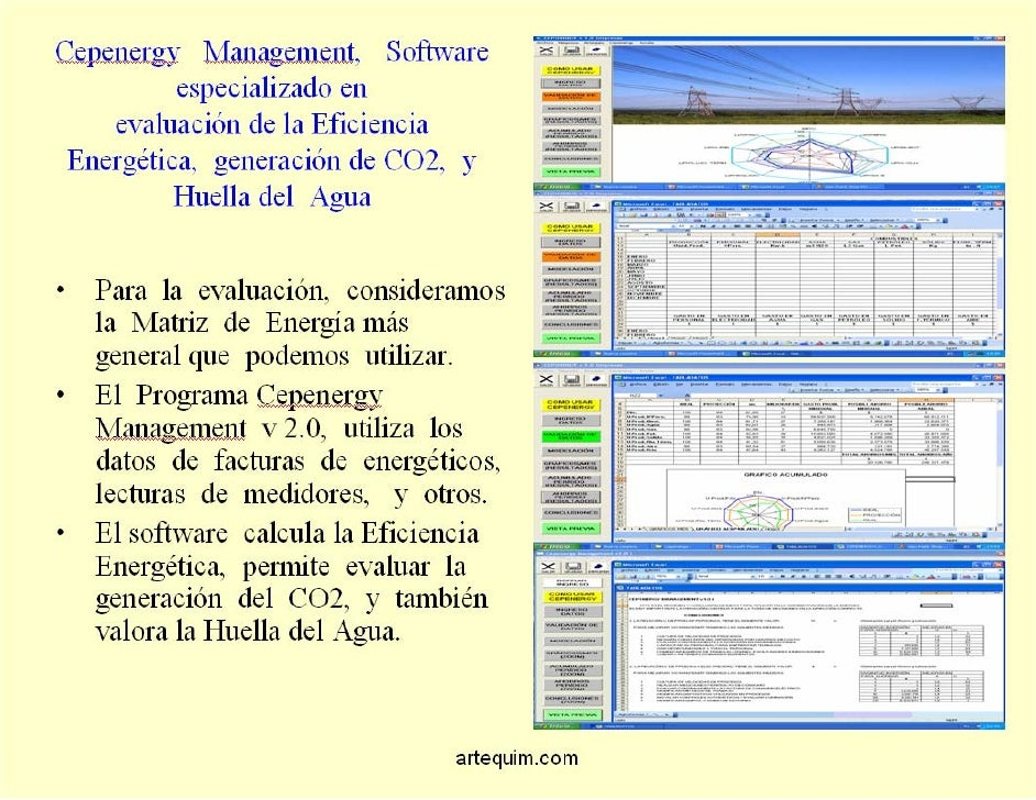 Eficiencia Energetica, software de gestion Slide 3