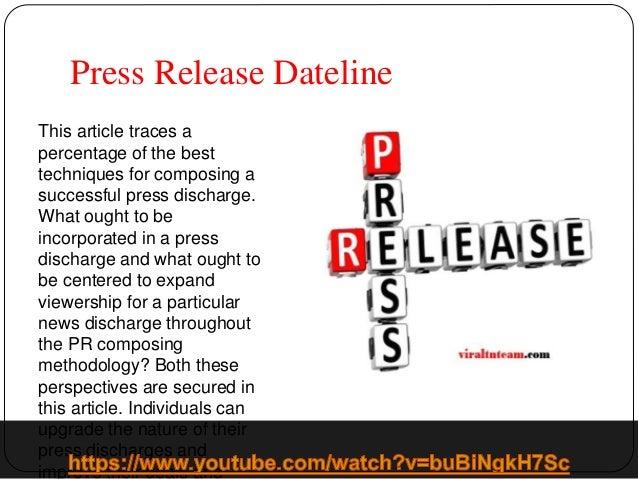 PRESS RELEASE DEFINITION PDF
