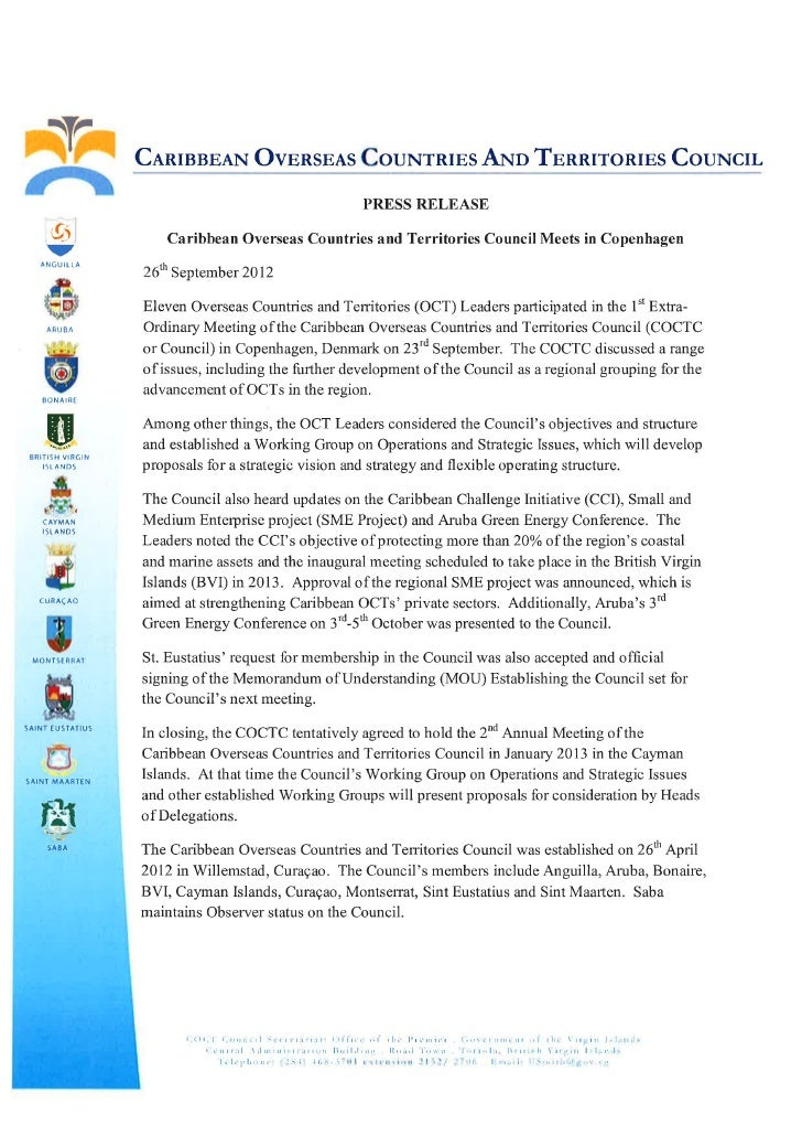 Press release   1st extra-ordinary meeting of the coctc copenhagen[1]