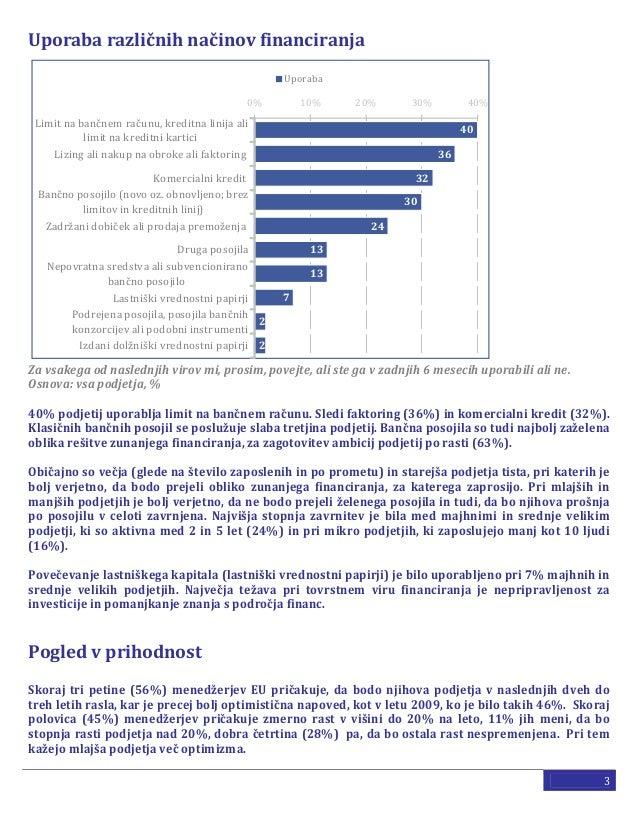 Financiranje malih in srednjih podjetij Slide 3