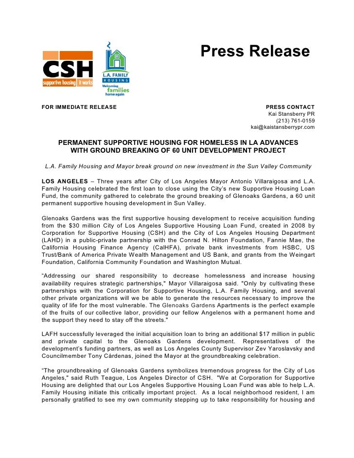 Press Release   FOR IMMEDIATE RELEASE                                                             PRESS CONTACT           ...