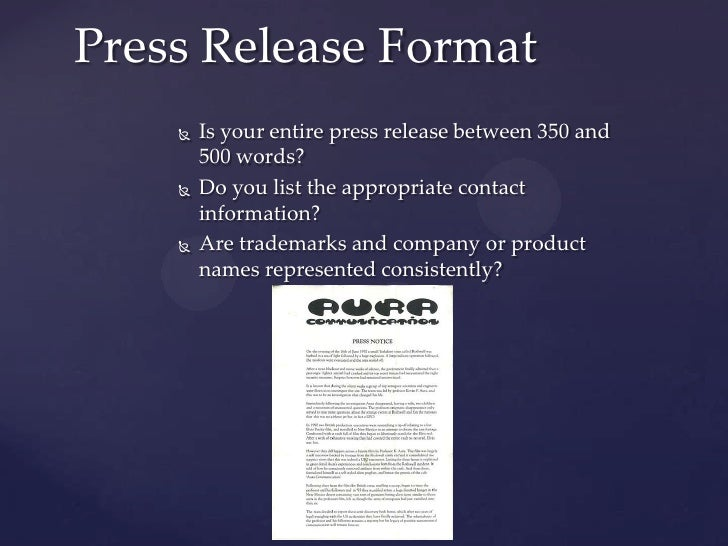 Dos and donts of writing a press release