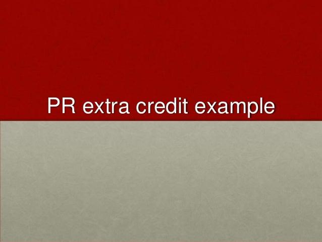PR extra credit example