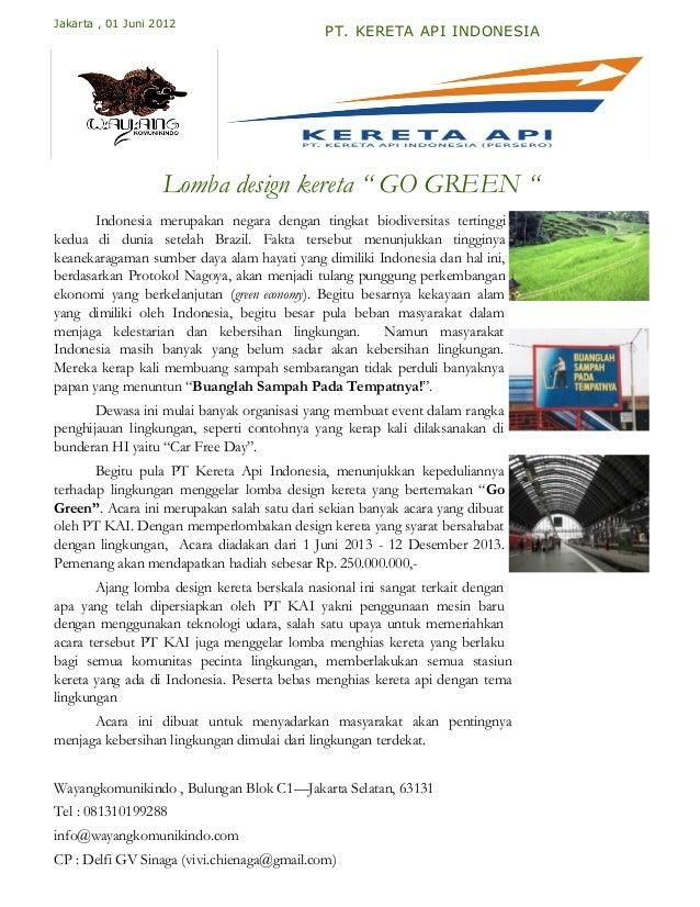 Jakarta , 01 Juni 2012                                             PT. KERETA API INDONESIA                   Lomba design...