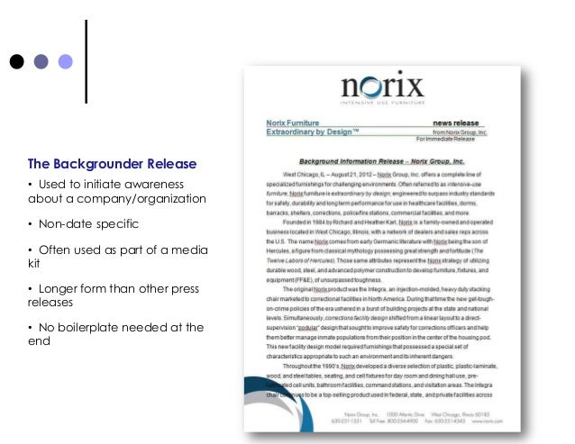 examples of press releases