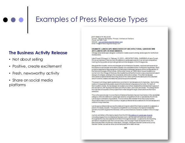 Press Releases for Small Business Promotion - powerpoint presentation…