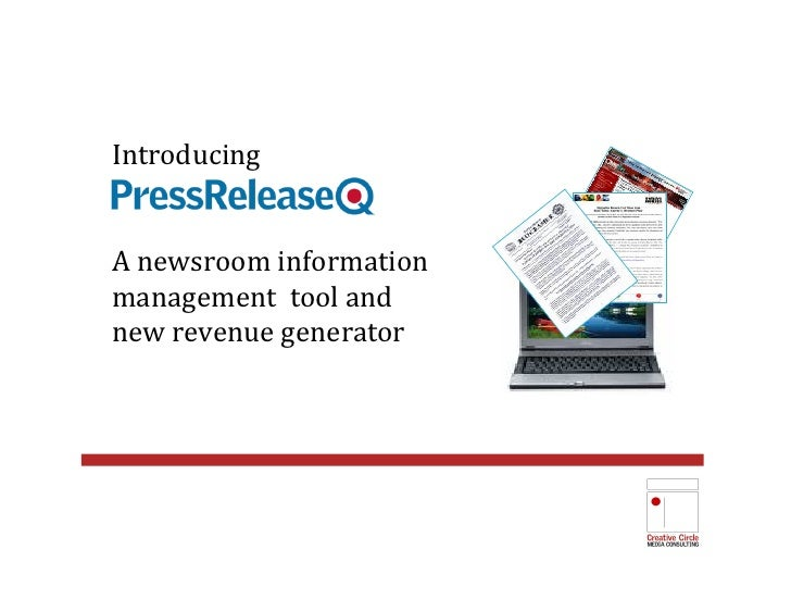 Introducing A newsroom information management  tool and  new revenue generator