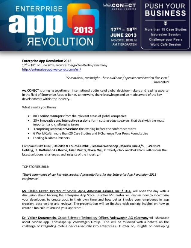 Preview enterprise app revolution 2013 conference enterprise app revolution 201317th 18th of june 2013 novotel tiergarten berlin germanyhttp ccuart Images