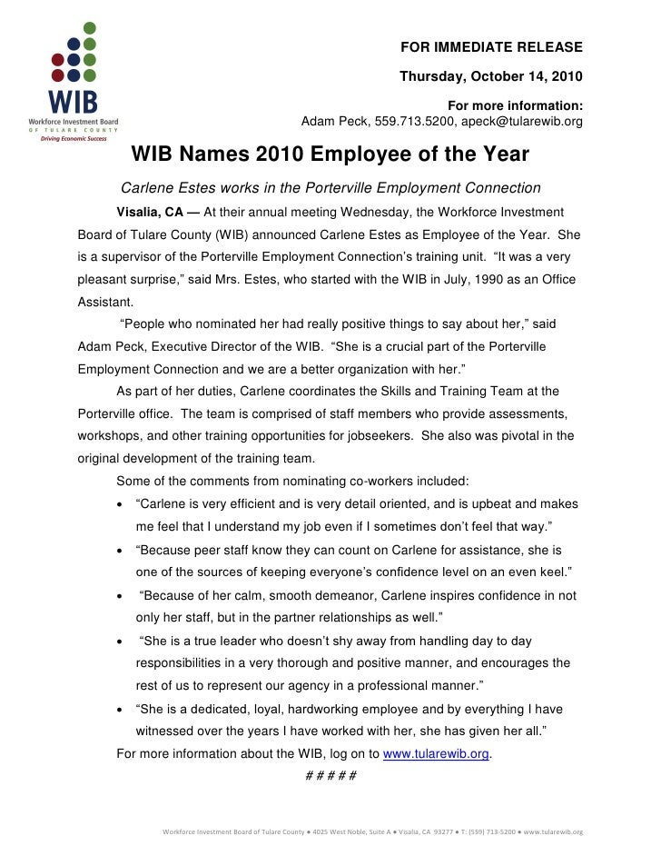 Press releasewib2010employeeyear10.14.2010