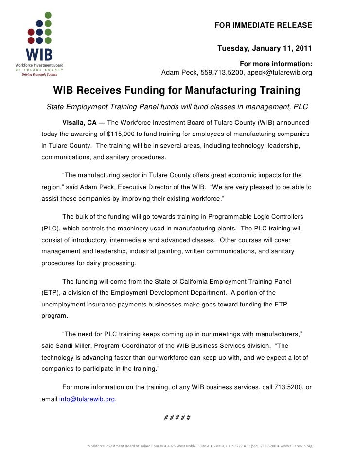 Press releasewibetp funding12.2010