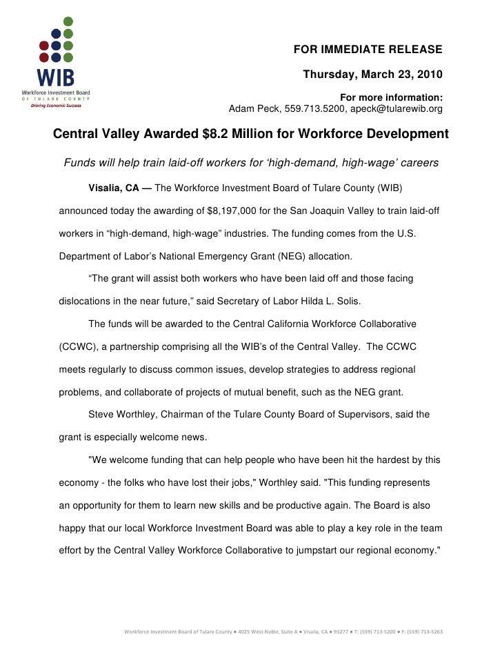 Press release wib neg grant03.22.10