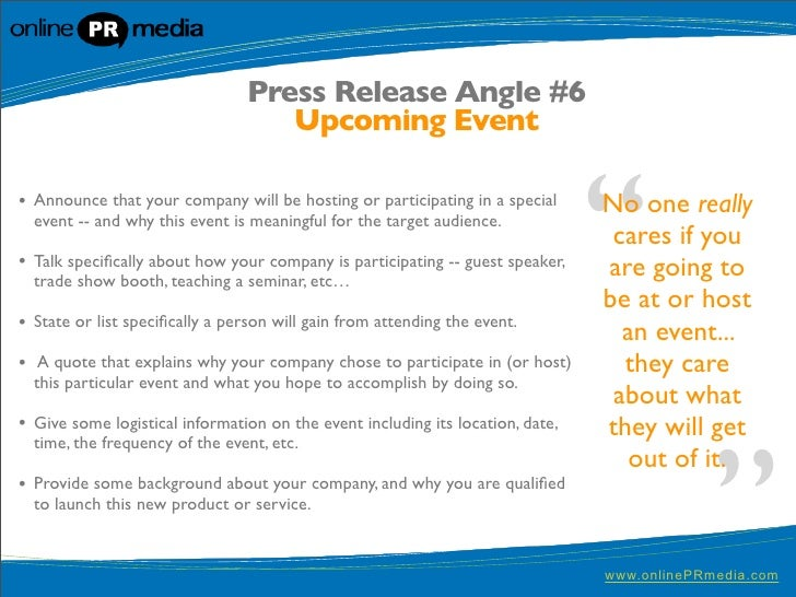 A Press Release for Your Mobile App