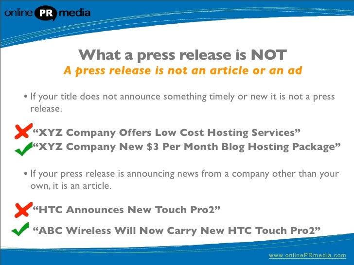 Press Release Writing: 10 Powerful Press Release Headline Ideas