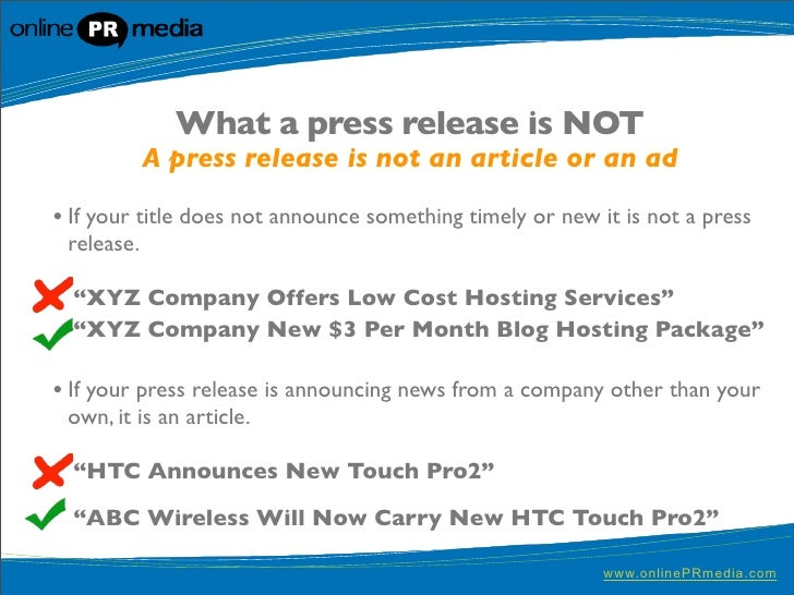 catchy press release titles examples