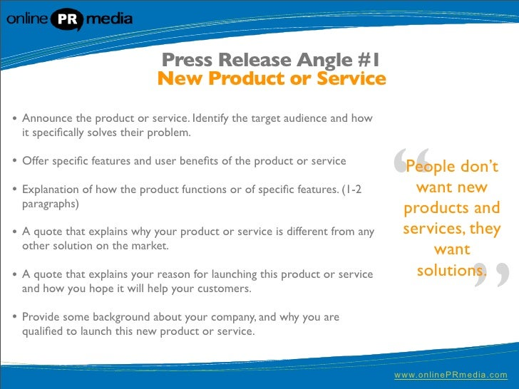 Press release writing 10 powerful press release headline for New service announcement template
