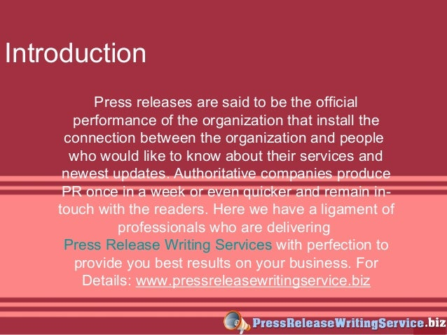 press release writing service Hire press release writers for your content marketing projects start with this freelance press release writer spotlight.