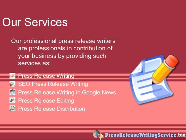 Press release writing services research