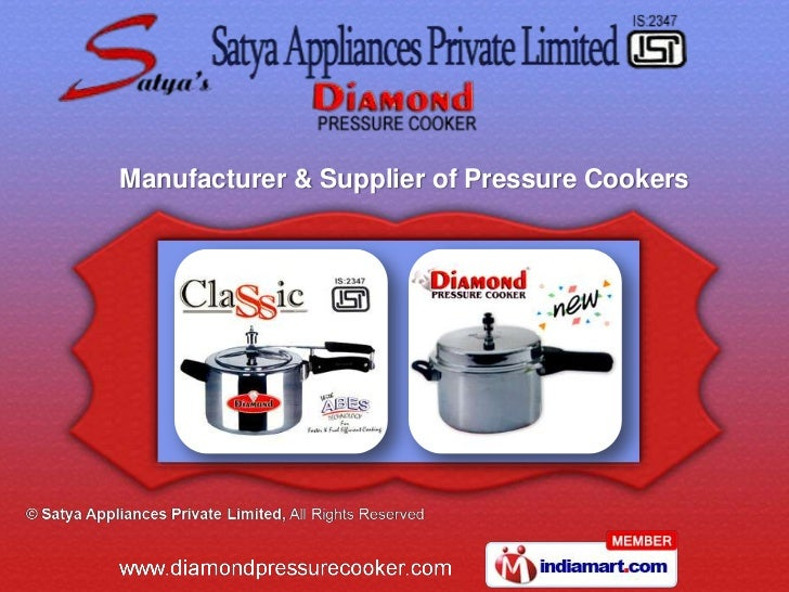 Manufacturer & Supplier of Pressure Cookers