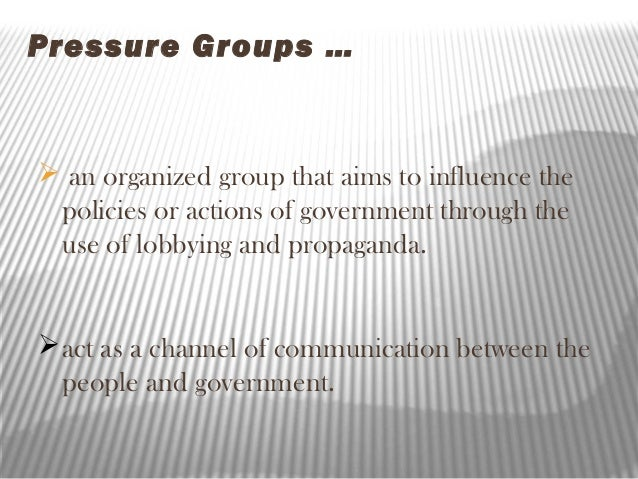 Definition of 'pressure group'