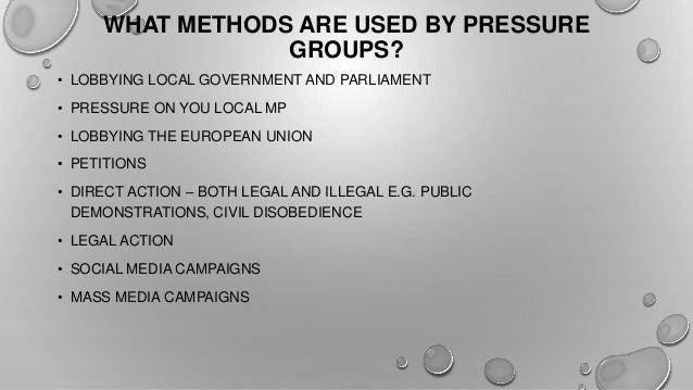 methods used by pressure groups