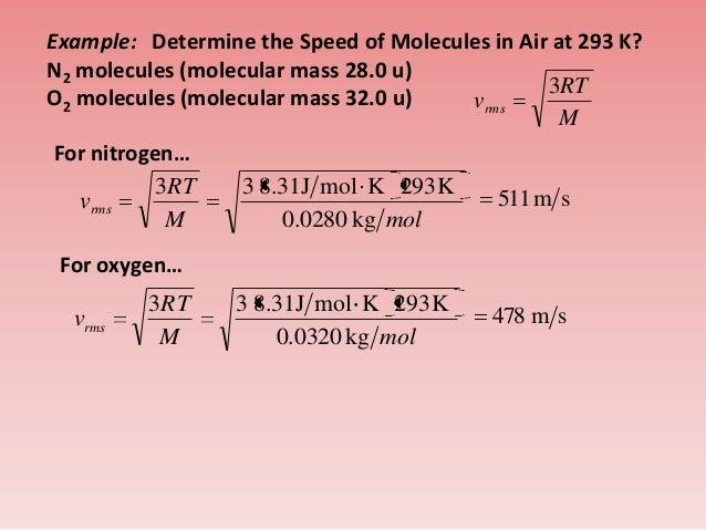 air velocity temperature relationship