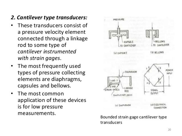 Pressure transduser, load cells , temperature compensation