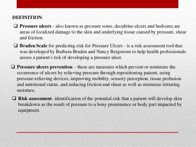 Pressure ulcer assessment prevention & reporting Slide 3