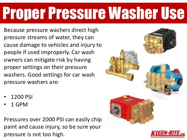 Low Pressure Car Wash Water Regular