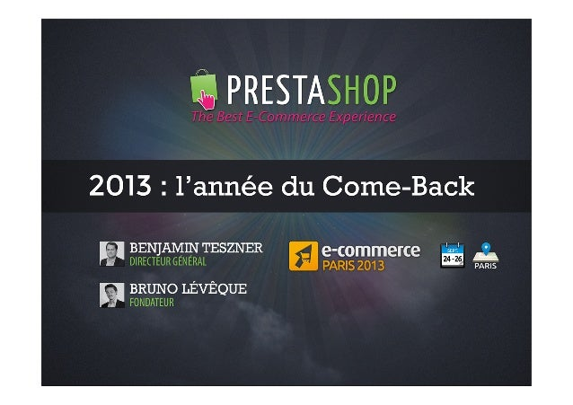 Prestashop 2013 L 39 Ann E Du Come Back