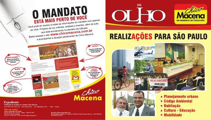 Ações do mandato do vereador Chico Macena.