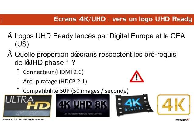 © mesclado 2014 – All rights reserved Pres1401 Ecrans 4K/UHD : vers un logo UHD Ready • Logos UHD Ready lancés par Digital...