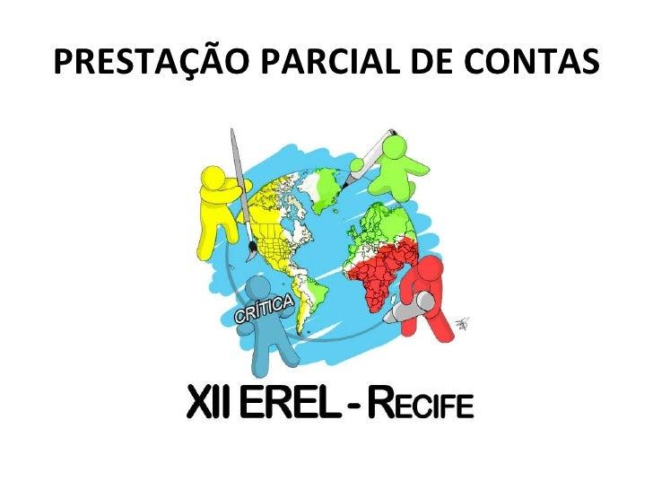 PRESTAÇÃO PARCIAL DE CONTAS